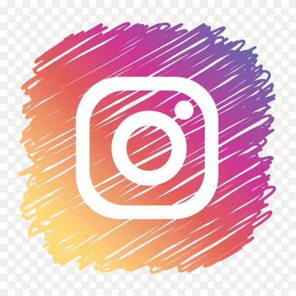 Instagram logo scribble social media icon PNG