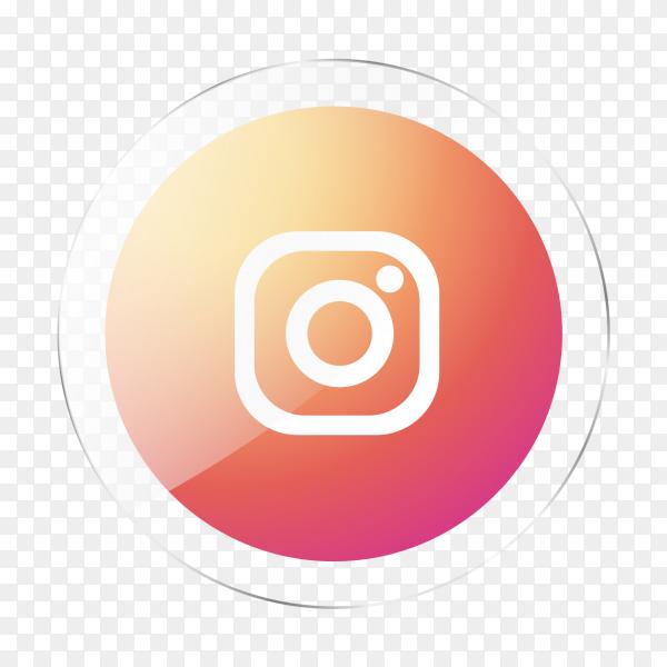 Instagram logo social media glossy icon PNG