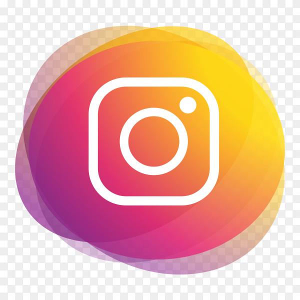 Instagram logo social media icons multiply ellipse PNG