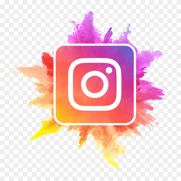 Instagram logo watercolor social media icon PNG