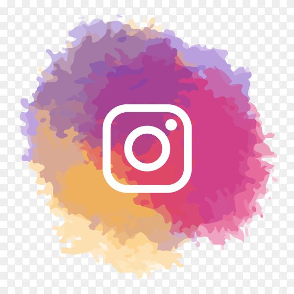 Instagram logo watercolor social media PNG