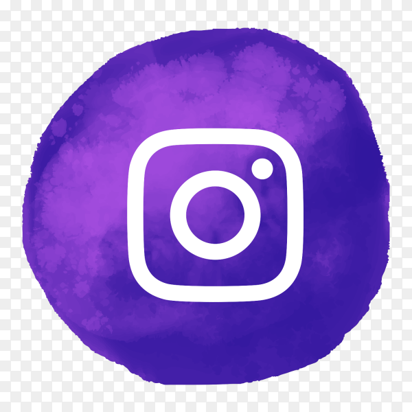 Instagram logo watercolor style social media PNG