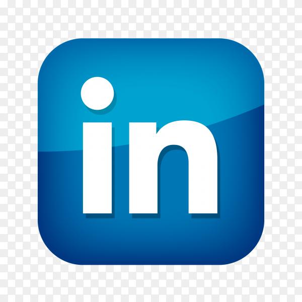 Linkedin logo social network PNG