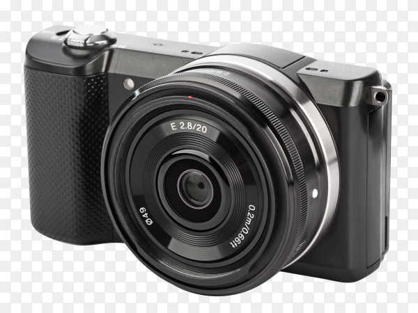 Mirrorless photo camera PNG