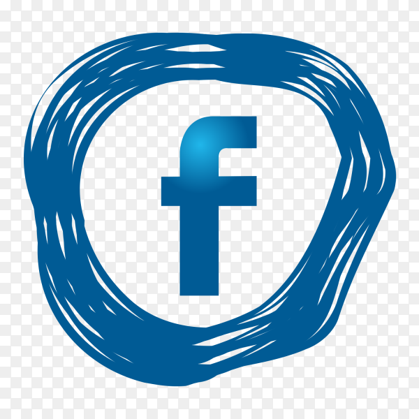 Modern facebook icon PNG