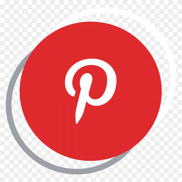 Pinterest logo elegant social media icon PNG