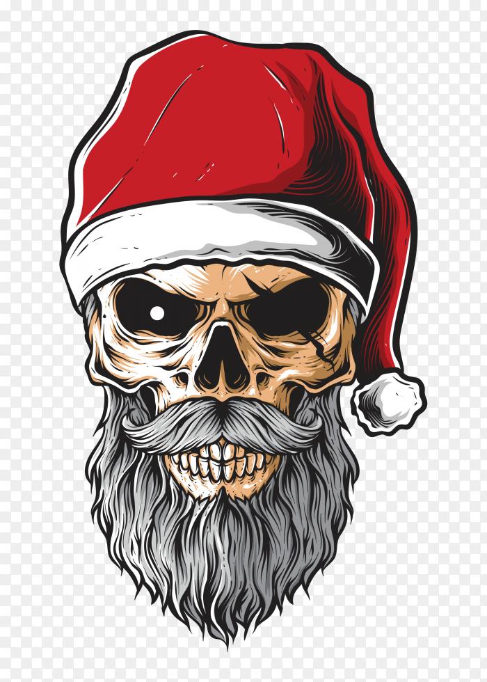 Skull santa pirate vector PNG