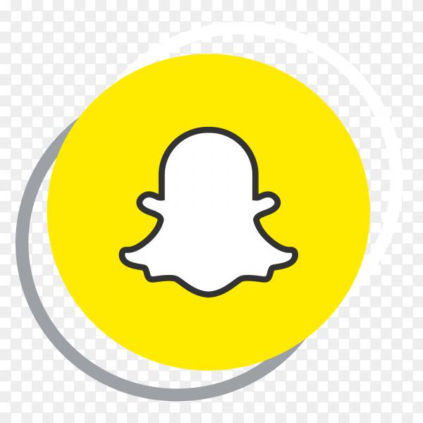 Snapchat logo elegant social media icon PNG