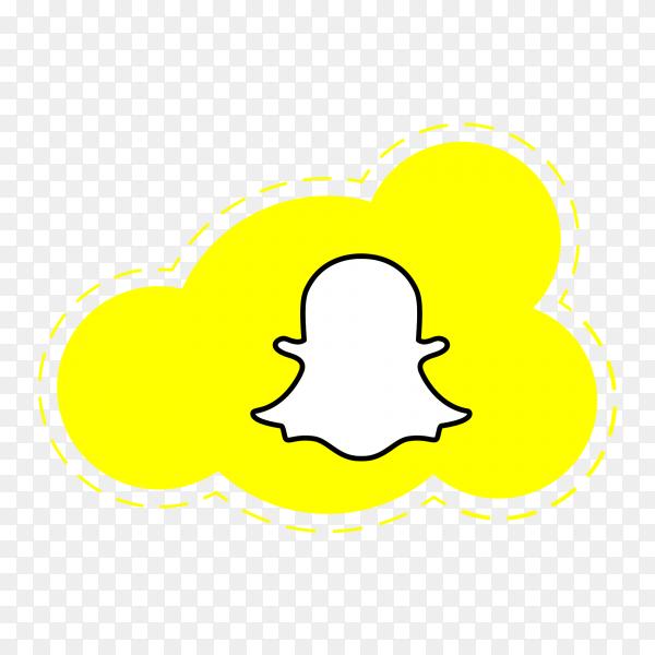 Snapchat logo icon social media cloud PNG