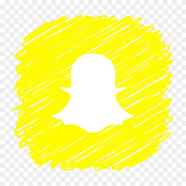 Snapchat logo scribble social media icon PNG