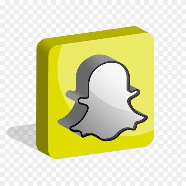 Snapchat logo social media 3d PNG