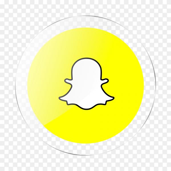 Snapchat logo social media glossy icon PNG