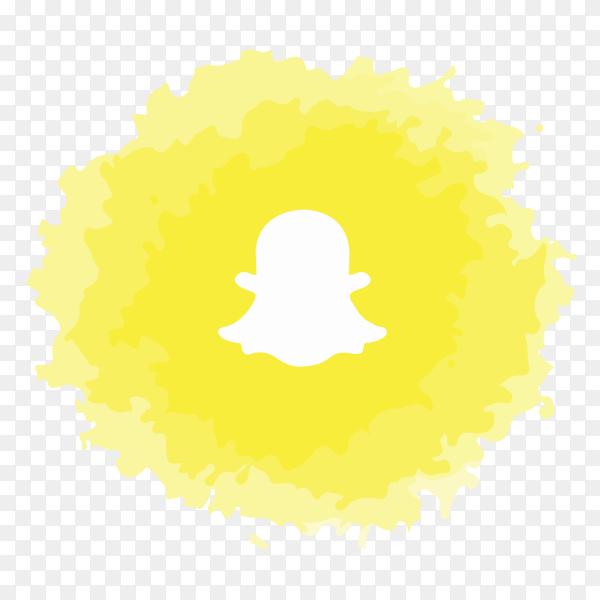 Snapchat logo watercolor social media PNG