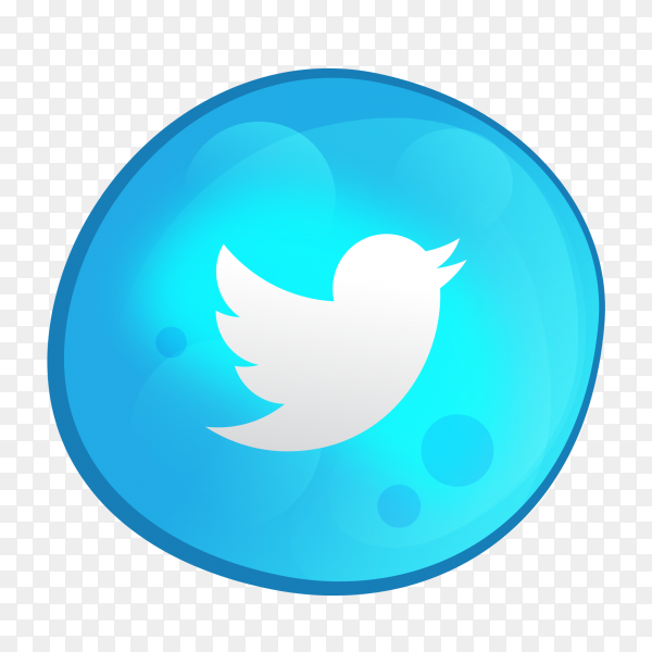 Twitter logo bubble style social media icon PNG