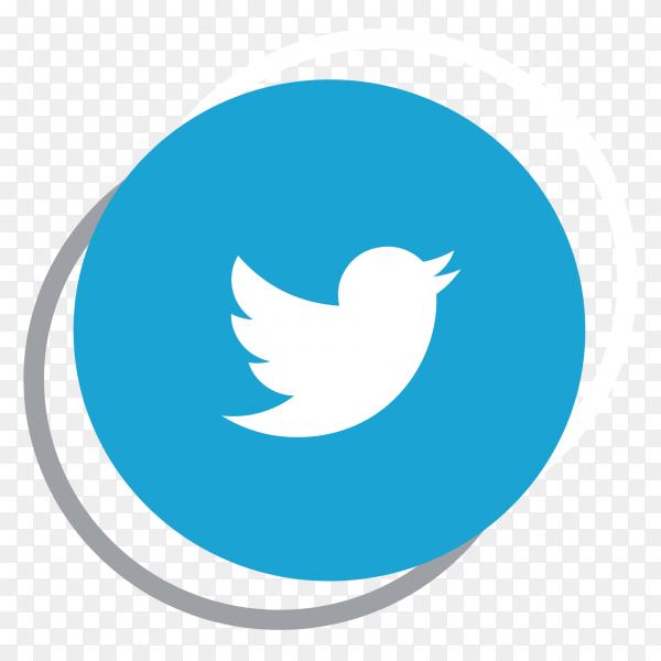 Twitter logo elegant social media icon PNG