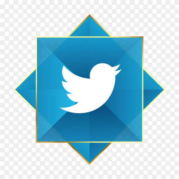 Twitter logo icon PNG