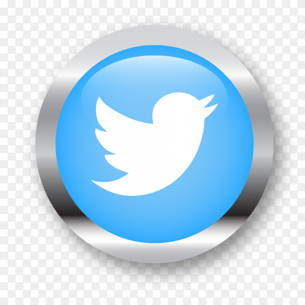 Twitter logo social network illustration PNG