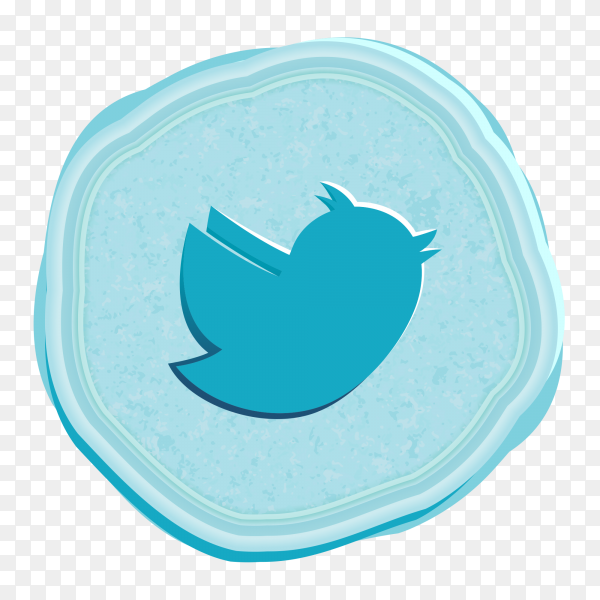 Twitter social network icon vintage style PNG