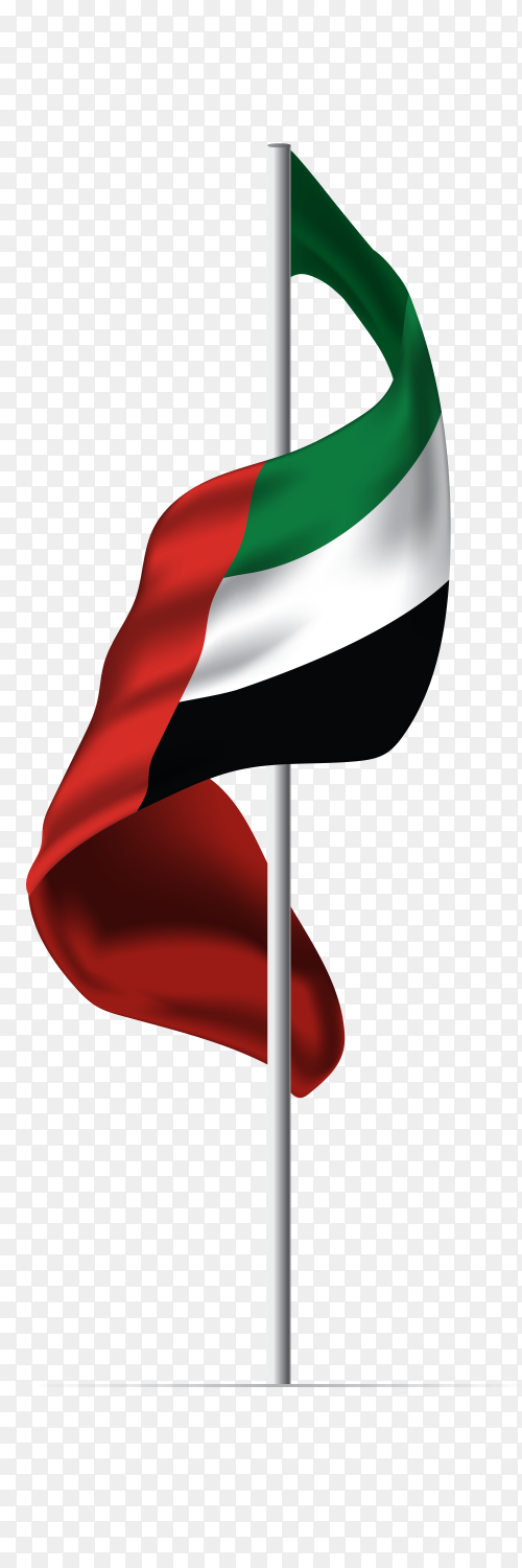 United Arab emirates flag UAE PNG