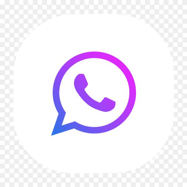 WhatsApp logo blue-purple glowing PNG