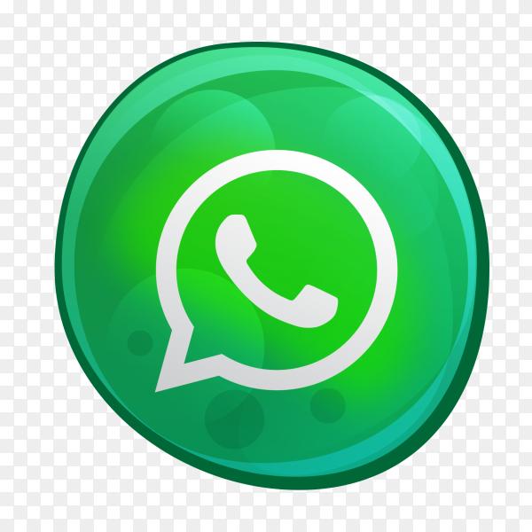 WhatsApp logo bubble style social media icon PNG