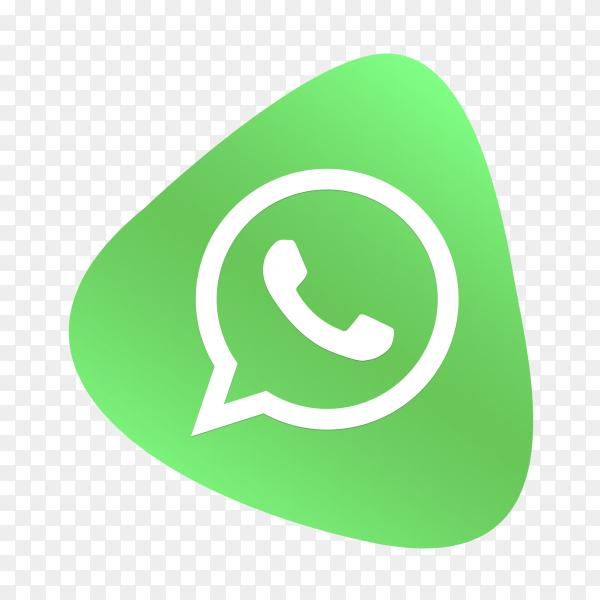 WhatsApp logo button social media PNG