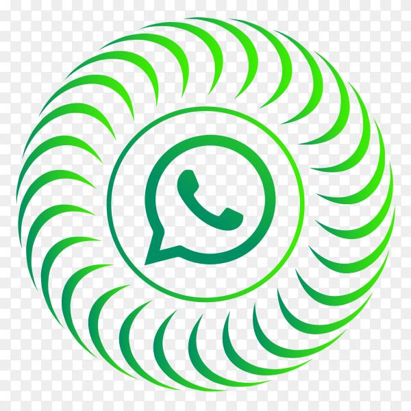 WhatsApp logo circular style PNG