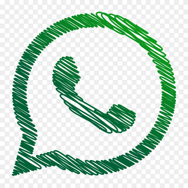 WhatsApp logo creative scribble sketch style PNG