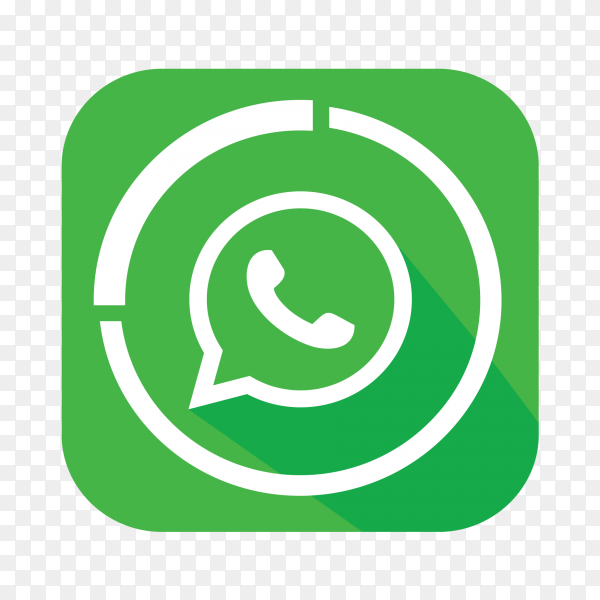 WhatsApp logo popular social media icon PNG