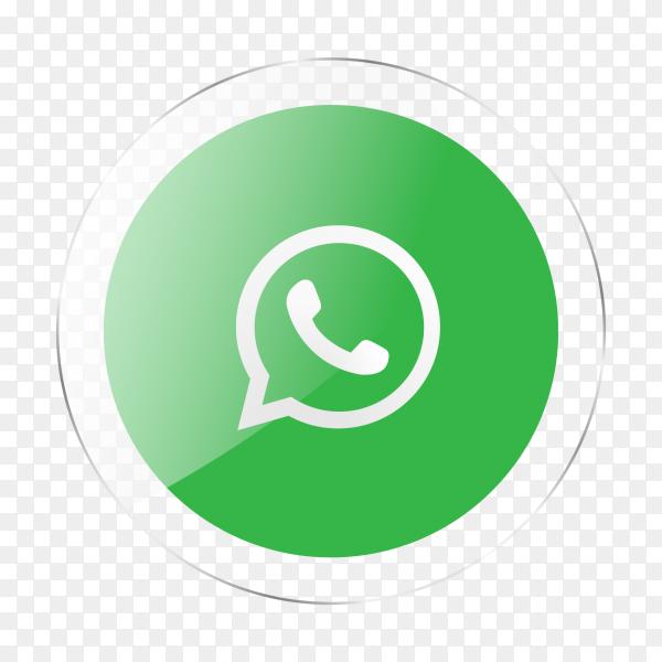 WhatsApp logo social media glossy icon PNG