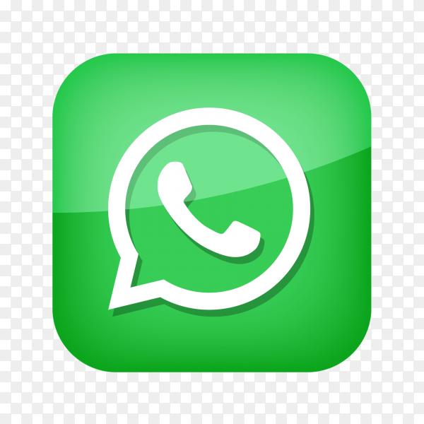 WhatsApp logo social network PNG