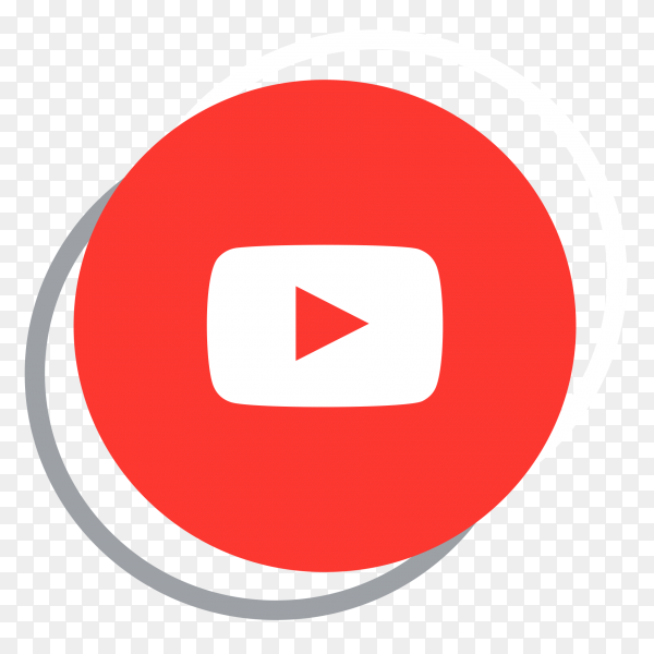 YouTube logo elegant social media icon PNG