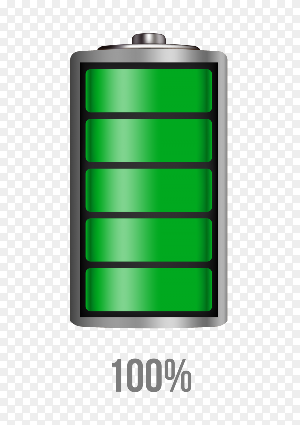 Battery 100% charging load status PNG