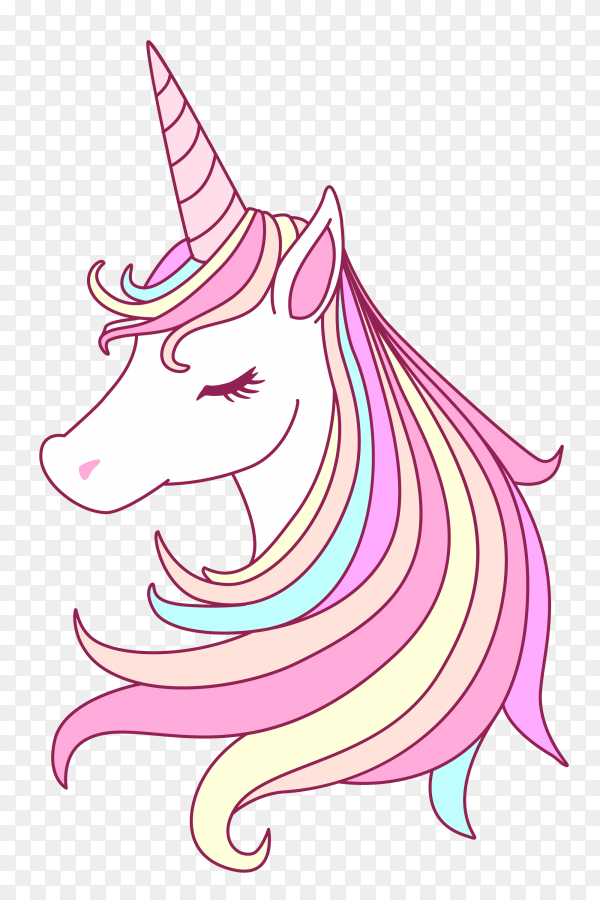 Beutiful unicorn with sweet pastel color tone PNG