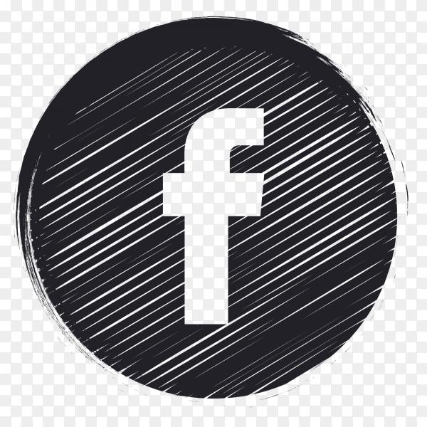 black social media logo Facebook PNG