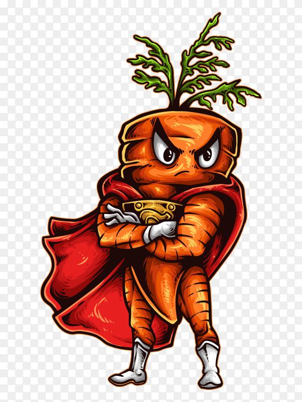 Carrot superhero PNG
