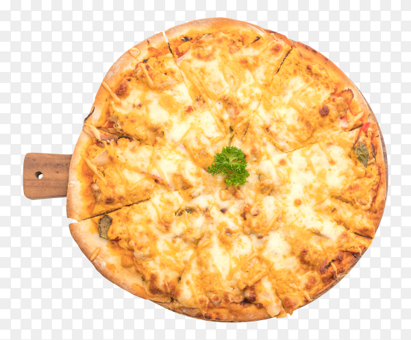 Chicken grilled pizza with thousand island sauce PNG
