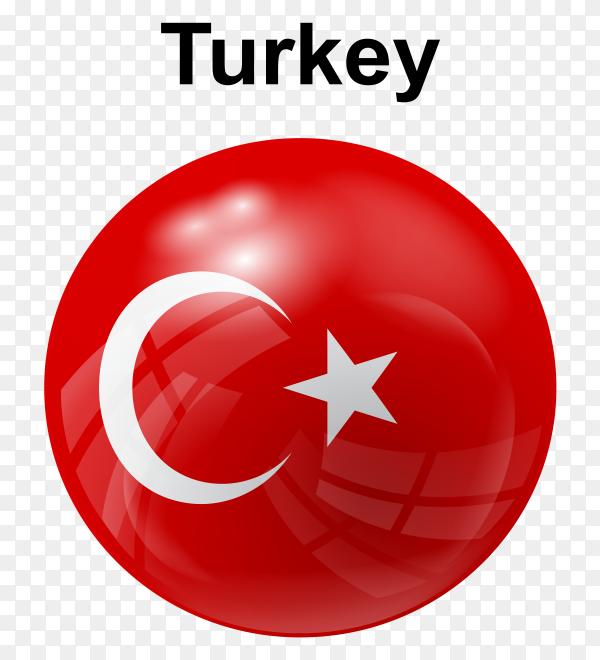 circle glossy flag Turkey PNG