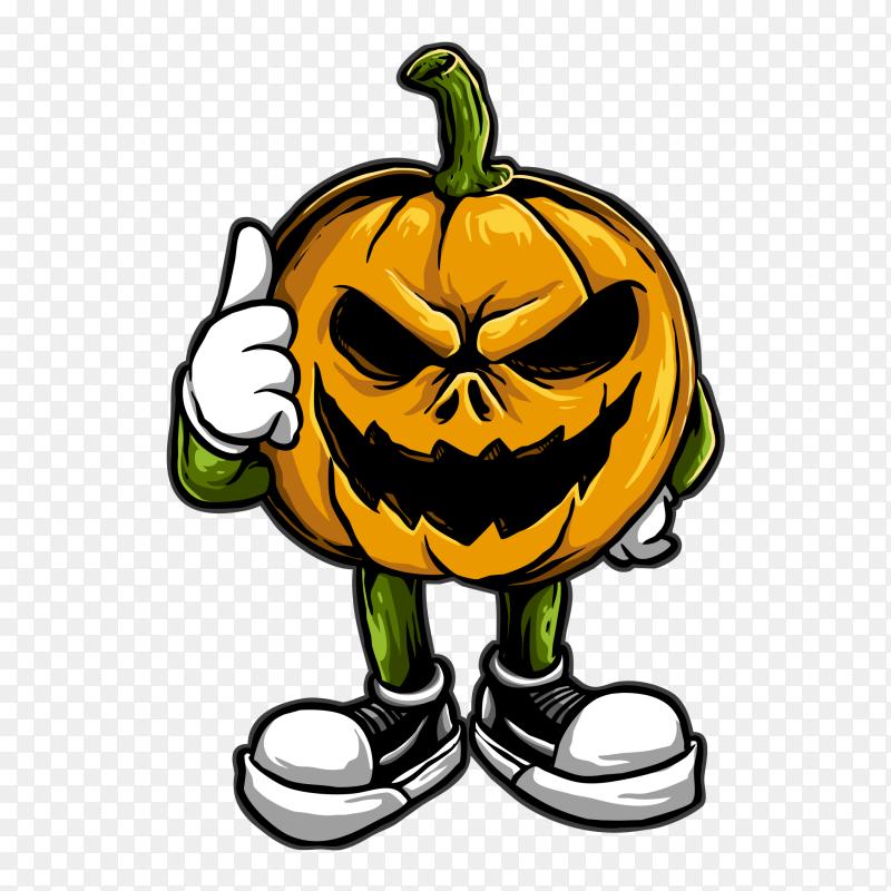 Cool pumpkin Vector PNG