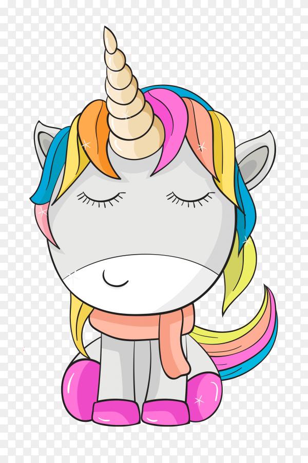 Cute colorful unicorn PNG