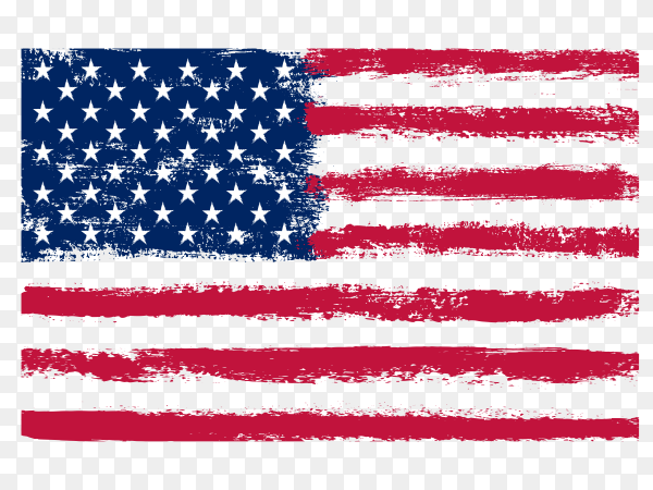 Dirty grunge american flag PNG