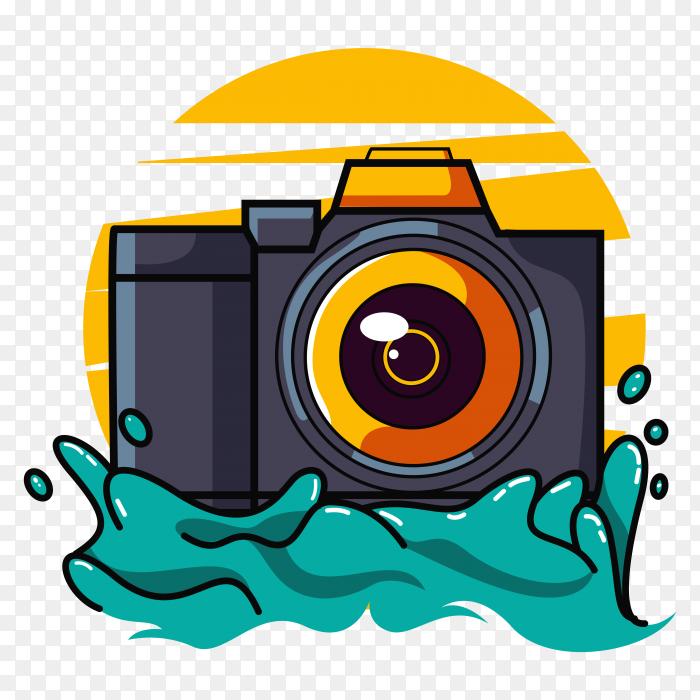 DSLR Camera logo design PNG