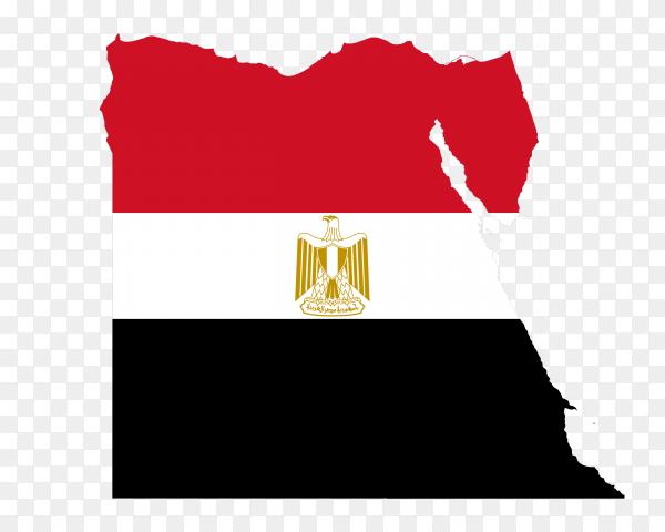 Egypt map flag national emblem PNG