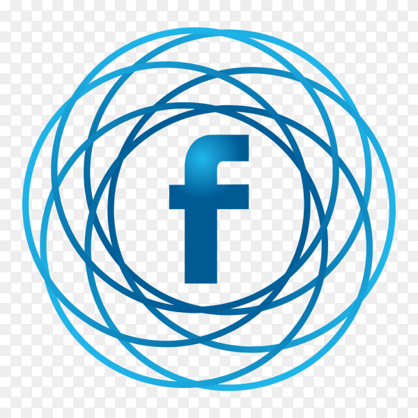 Facebook logo icon modern social media PNG