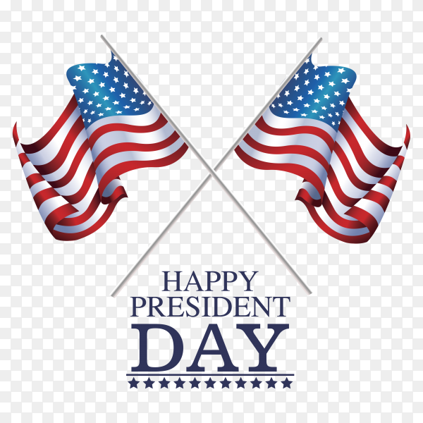 Flags american happy president day PNG