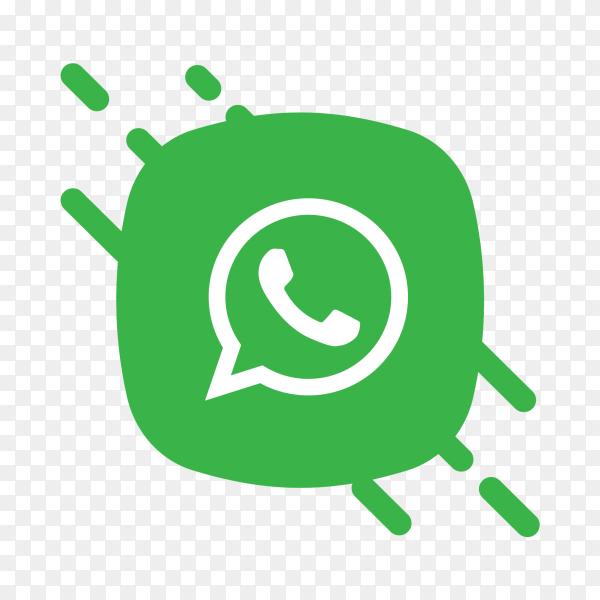 Flat logo WhatsApp icon PNG