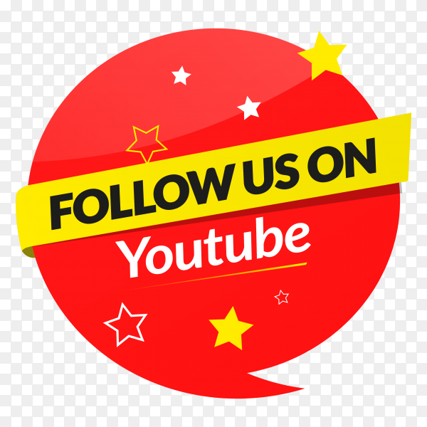 Follow us on YouTube – social media banner PNG