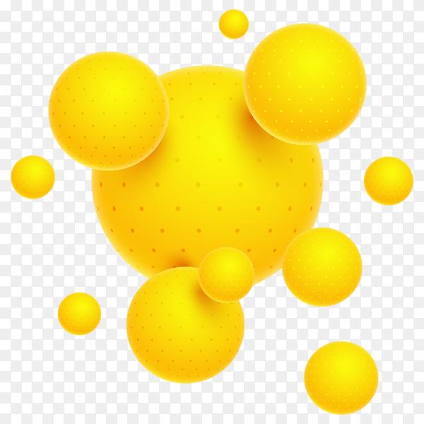 3D circles yellow PNG