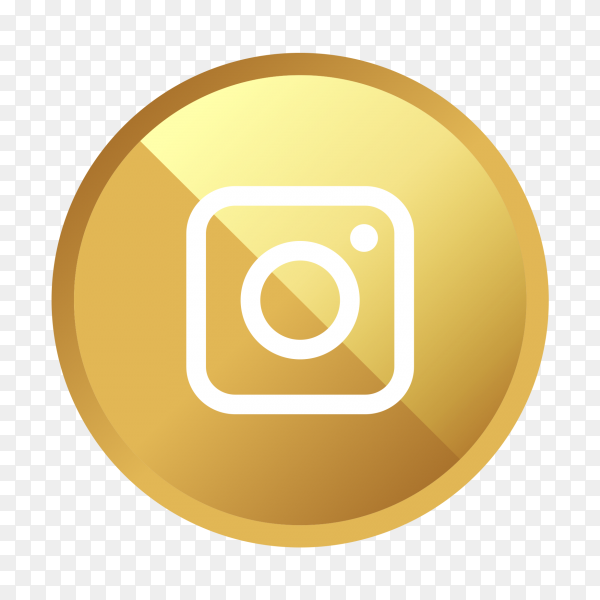 Golden Instagram logo social media icon PNG