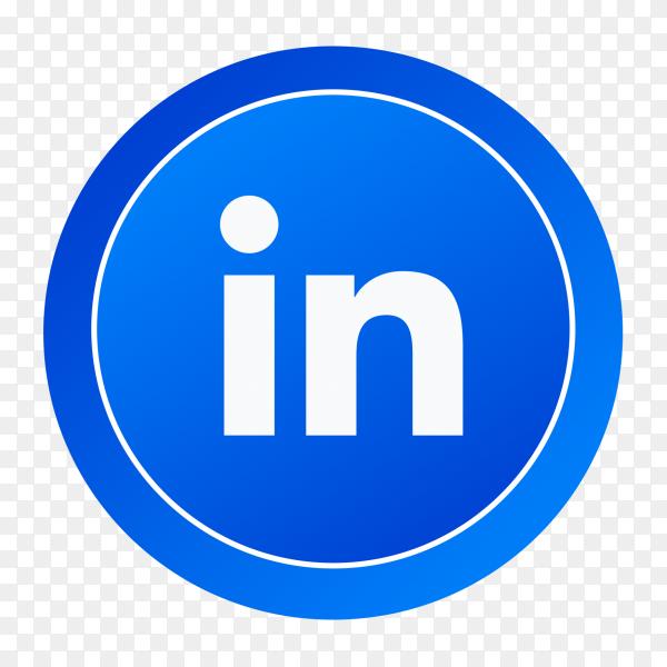Gradient logo Linkedin social media icon PNG